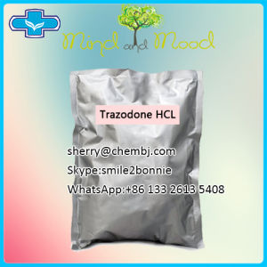 Anti-Depress Drugs Trazodone Hydrochloride Trazodone HCl for Anxiety Disorder pictures & photos