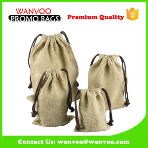 Promotional Nature Jute Drawstring Coffee Tea and Nuts Bags for Packing pictures & photos