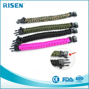 Wholesale Survival Paracord Flint Bracelet Kit for Outdoor Camping pictures & photos