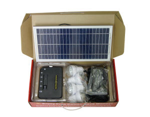 Portable Solar Home Lighting System for 4 Rooms pictures & photos
