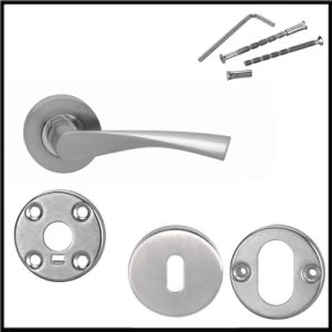 Commercial Ss Door Handles and Locks with Steel Base pictures & photos