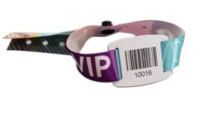 Barcode RFID PVC Plate Sublimation Wristbands for Party pictures & photos