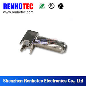 Zinc Alloy Right Angle PCB Mount Female Gender F Connectors pictures & photos
