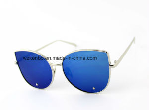 Cateye Shape Frame with Fully Metal Fashion Sunglasses Km16148 pictures & photos