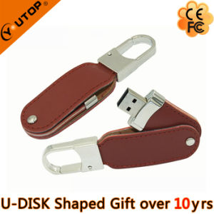 Key Lock Leather USB Flash Drive for Free Gifts (YT-5120) pictures & photos