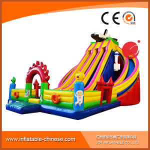 2017 High Quality 0.55mm PVC Tarapulin Inflatable Dry Slide (T4-421) pictures & photos