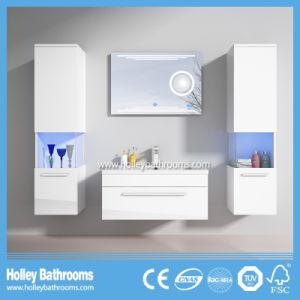 Selling Europe Magnifier New LED Light Touch Switch High-Gloss Paint MDF Furniture Magnifier Bathroom Vanity-D9056A