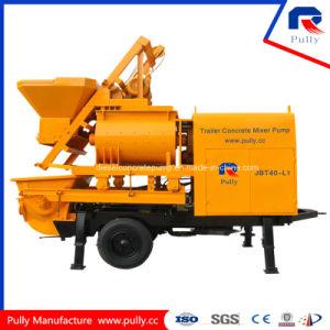 Pully Manufacture Portable Double Shaft Concrete Mixer Pump for Sale (JBT40-L) pictures & photos