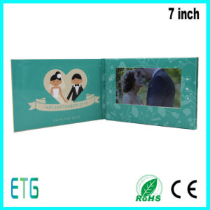 Hot Sale Custom 7 Inch Video Booklet for Wedding and Advertising pictures & photos