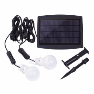 Solar Power Bulb Light 2W Bright Garden Yard Light Sensor Outdoor Waterproof Solar Lamp with Ground Spike pictures & photos