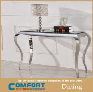 Luxury Design Clear Glass Console Table Design