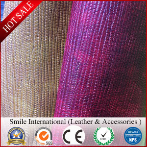 Faux Leather for Handbags PVC Leather Two Tone Color 1.2mm High Quality New Design Syntheitic Leather pictures & photos