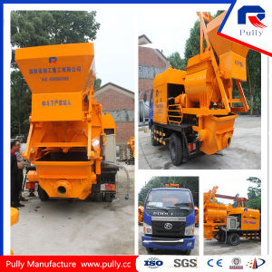 Truck Mounted Concrete Pump with Mixer pictures & photos