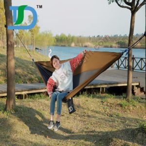 China Manufacture Custom Full Colors Nylon Portable Hammock pictures & photos