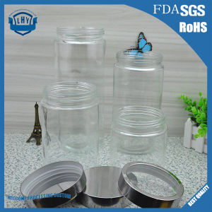 900ml-2264ml Food Grade Transparent, Cylindrical, Wide- Mouth Storage Glass Jar
