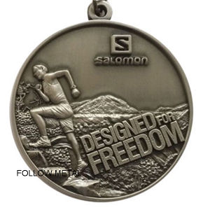 Sport Medal with Design for Freedom Climbing Race