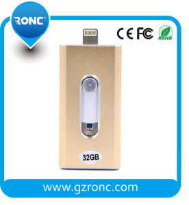 OTG Type 3 in 1 USB Flash Drive for iPhone, Samsung and Computer pictures & photos