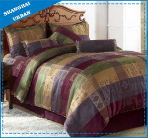7 Piece Jacquard Royal Pattern Polyester Comforter Set pictures & photos