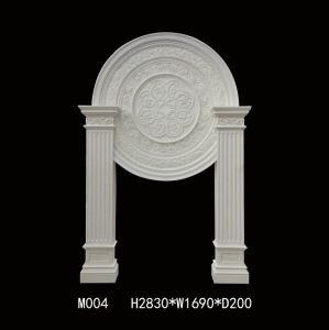 Europe Style Sandstone Sculpture Fireplace Circular Plate for Home Decorations pictures & photos