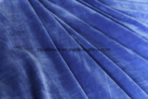 Super Soft Short Plush Velvet Fabric in Royal blue Color pictures & photos