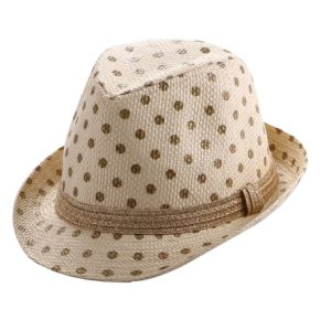 Girl′s Printing Shining Hatband Straw Hat pictures & photos