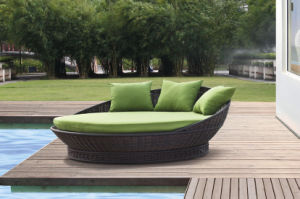 New Rattan Daybed Outdoor Furniture-1 pictures & photos