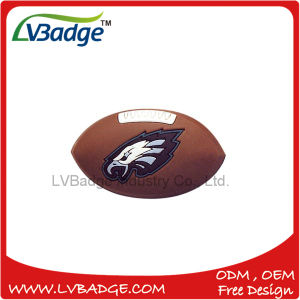 Custom Rugby Rubber Soft PVC Badge pictures & photos