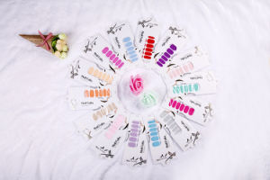 Fashion Pure Color Temporary Water Transfer Nail Sticker Art Sticker pictures & photos