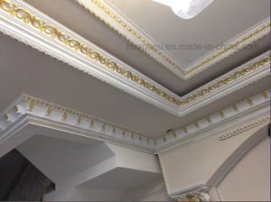 Carving PU Ceiling Cornice Moulding/PU Crown Moulding pictures & photos