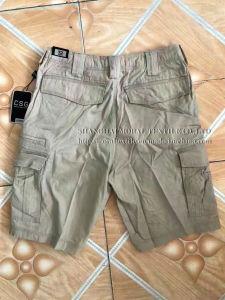100% Cotton Heavy Wash Men′s Cargo Pocket Short pictures & photos