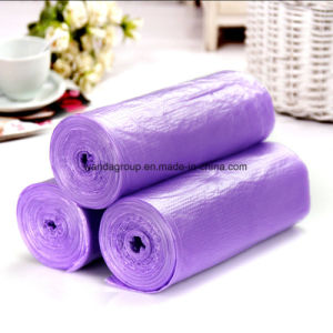 Embossed Plastic Garbage Bag on Roll pictures & photos