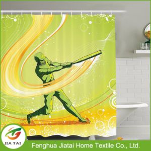 Eco-Friendly Customized Logo Polyester Bath Bathroom Shower Curtain for Kids pictures & photos