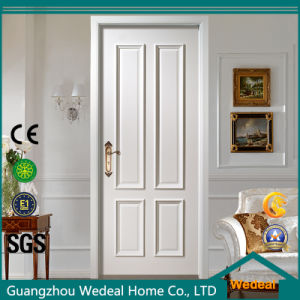 Modern MDF White Solid Core Interior Wooden Door pictures & photos