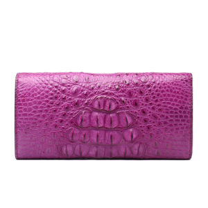 Lady Luxury Genuine Leather Clutch Bag Crocodile Big Travel Wallet pictures & photos