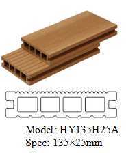 125mm * 25mm WPC Decking with Cheap Price pictures & photos