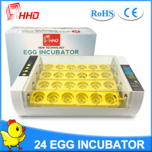 Hhd Latest Model Automatic Turning 24 Chicken Egg Incubator pictures & photos