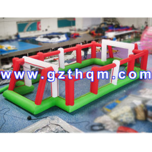 Outdoor Exciting Inflatable Football Pitch/0.55mm PVC Tarpaulin Inflatable Soap Football Field pictures & photos