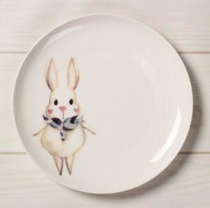 DIY Concise Cartoon Ceramic Porcelain Hotel Dinner Dish Plate pictures & photos