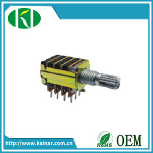 13mm 4 Gang Rotary Potentiometer with Metal Shaft Wh12A-4-2-2 pictures & photos