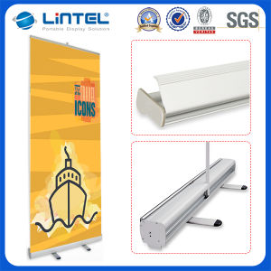 Double Feet T Aluminum Roll up Banner Stand pictures & photos
