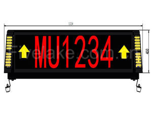 Airport Guiding LED Display Signage pictures & photos