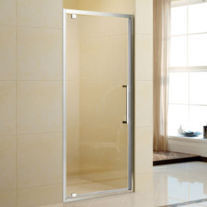 Bathroom Corner Pivot Style Shower Cabin with Shower Base pictures & photos