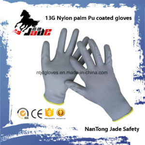 13G Polyester Palm Gart PU Coated Glove En 388 4131 pictures & photos