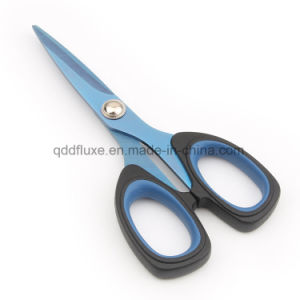 Titanium Coated Blade Office Scissors, Household Scissors with Soft Handle pictures & photos
