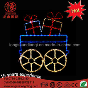 LED Large Metal Frame Santa Clause Christmas Street Decorative Motif Light for Buliding Decoration pictures & photos