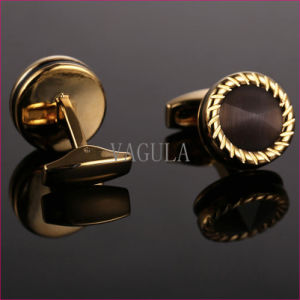 VAGULA Top Quality Cuffs Catseye Gemelos Cuff Links Onyx Cufflinks 52506 pictures & photos
