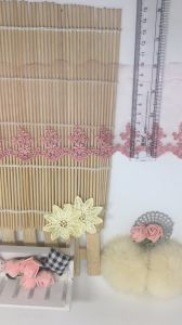 New Design Factory Wholesale Stock 11cm Width Embroidery Organza Lace Mesh Lace for Garments & Home Textiles & Curtains pictures & photos