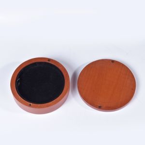 Round Imported Wood Jewelry Box