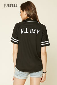Casual Striped Short Sleeve Baseball T Shirt pictures & photos