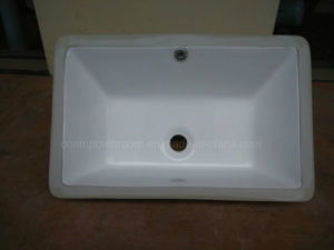 Sanitary Ware Bathroom Under-Mount Basin Square Insert Ceramic Washing Basin pictures & photos